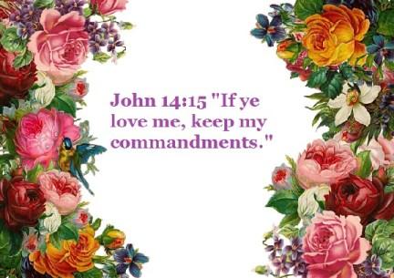 """John 14:15 """"If ye love me, keep my commandments."""""""