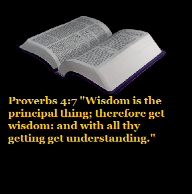"""Proverbs 4:7 """"Wisdom is the principal thing; therefore get wisdom: and with all thy getting get understanding."""""""
