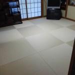 大阪市西区川口にお住まいのお客様宅の畳の新調入替え〜in半畳ヘリ無し畳