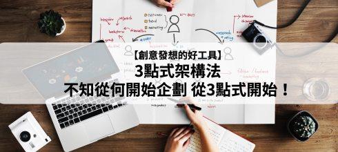 【創意發想的好工具】3點式架構法-不知從何開始企劃,從三點式開始!