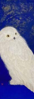「神無月」 51.4×18.2㎝ 白麻紙、水干、岩絵具