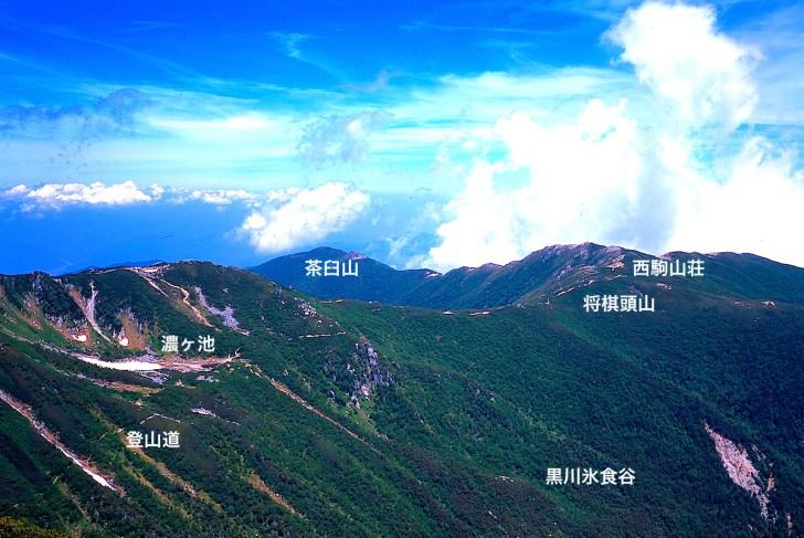 木曽駒ヶ岳のメイン登山道だった濃ヶ池、将棊頭山眺望