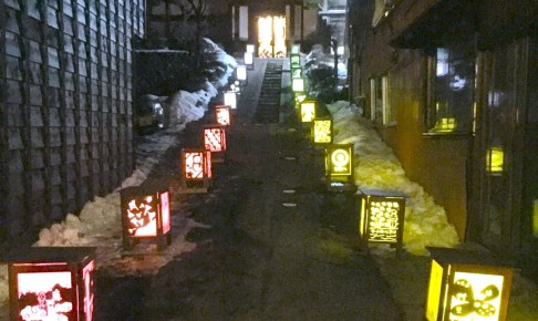 奈良井宿アイスキャンドル祭り