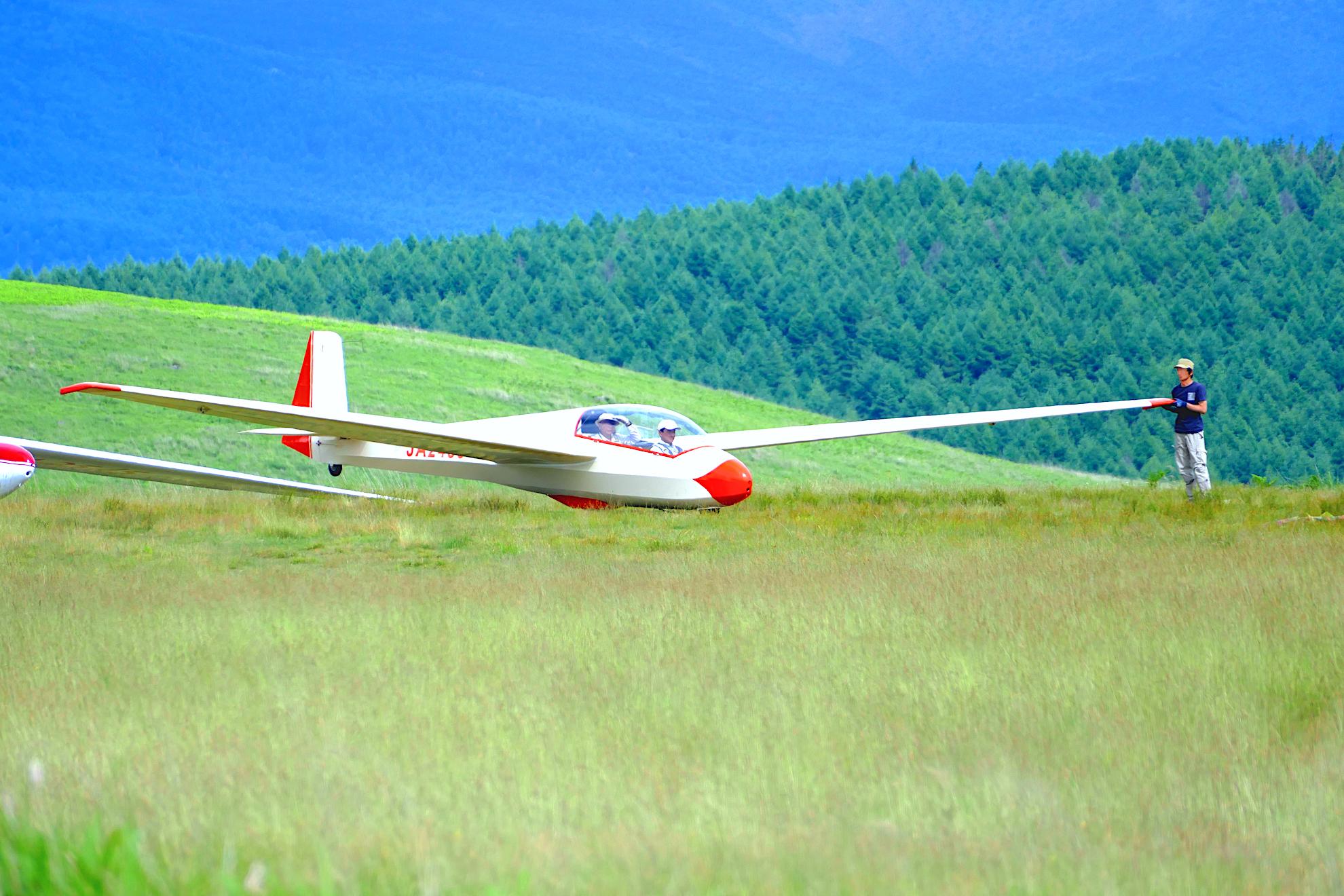 霧ヶ峰グライダー滑空場