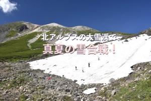 真夏の雪合戦
