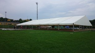 Das große Zelt – sieht schon aus wie ein Zelt :-) Foto: Anna