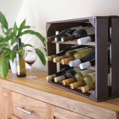 15 bottle varnished wine rack in situ (1024x1024)-500x500