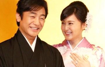 藤原紀香片岡愛之助の披露宴テレビ中継 画像