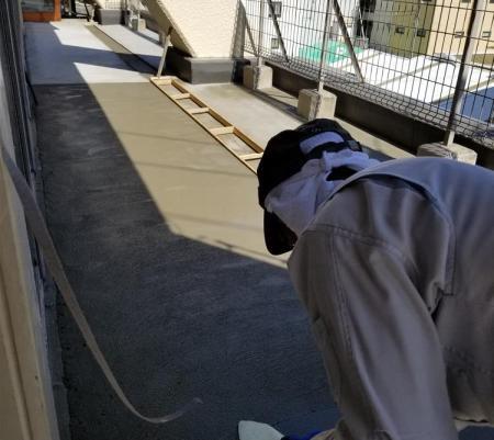 屋上土間左官・タイル工事