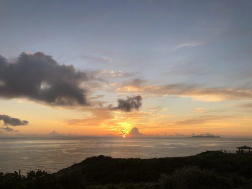 座間味島の夕日