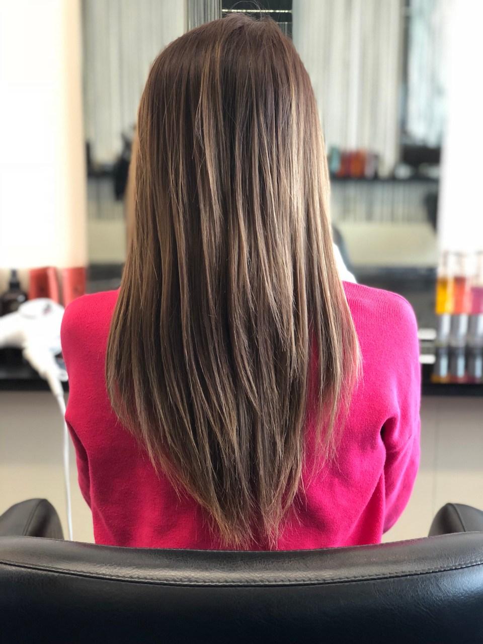 レプロナイザーを使用後の髪の毛