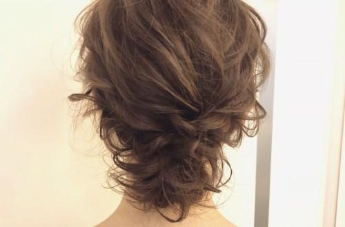 ミディアムボブのヘアセット