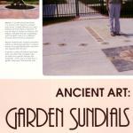 Heirloom Gardener, Garden Sundials, Spring 2011 p1