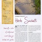 Heirloom Gardener, Herb Sachets, Summer 2011 p1