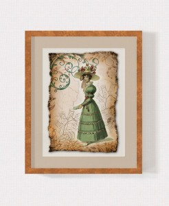 Regency Fashion Collage 5 x 7 Print 1 MU