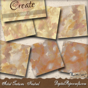Hand Painted Neutral Textures 6 Sheets