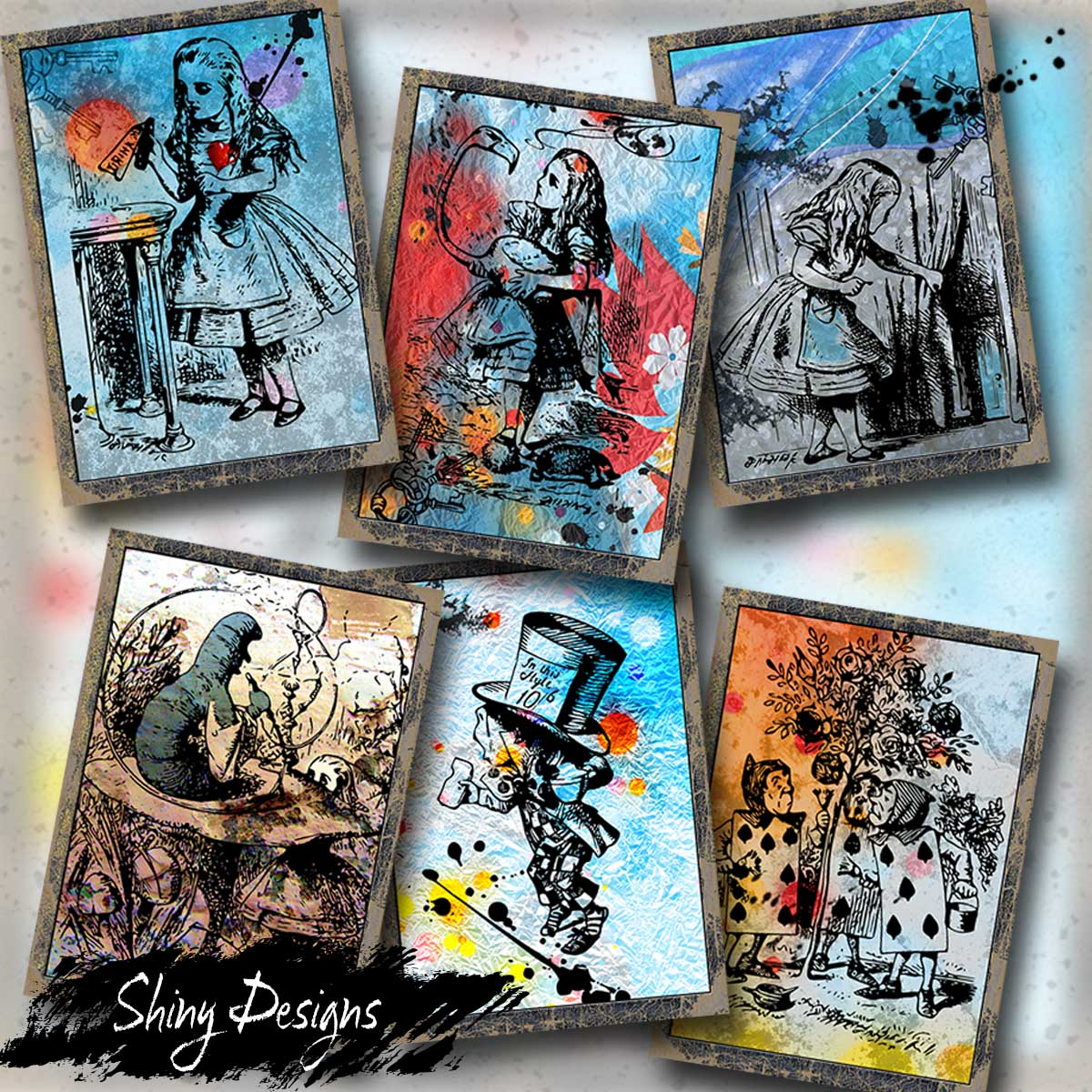 Jump Start Your Journal Pages, Alice in Wonderland ATC Printable Cards