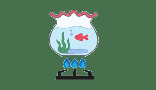熱湯の金魚