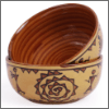 Vareesha Brown Warli Ceramic Bowls
