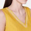 Women Yellow Solid A-Line Kurta