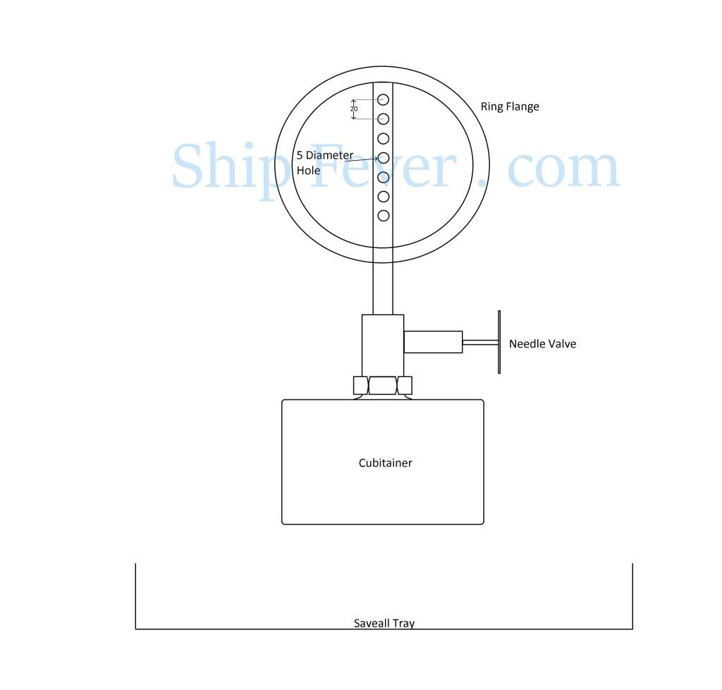 needle valve bunkering operation