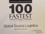 Global Source Logistics Named #80 in Los Angeles Business Journal's Fastest Growing Companies