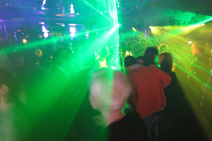 The nightclub in full swing
