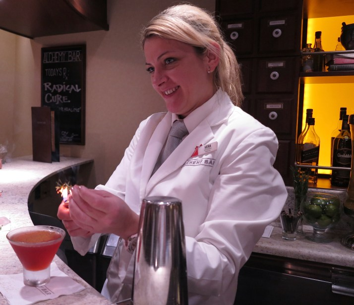 Mixing it up: Serving cocktails at the Alchemy Bar