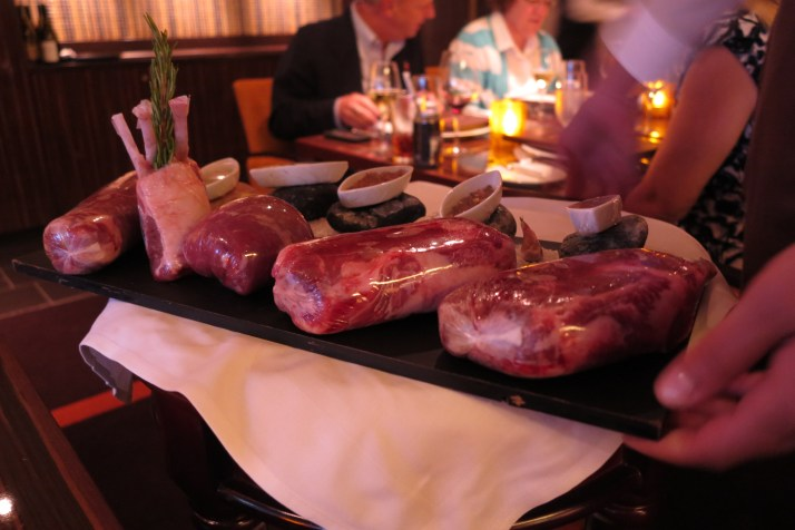 Your choice of meat in the Fahrenheit 555 steakhouse