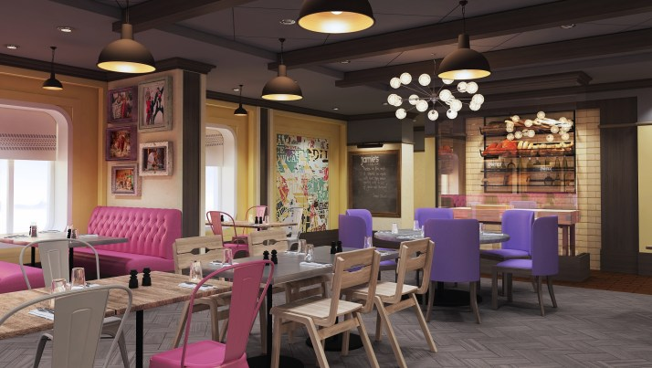 The Italian job: Jamie Oliver's new restaurant on Quantum of the Seas (Picture: Royal Caribbean)