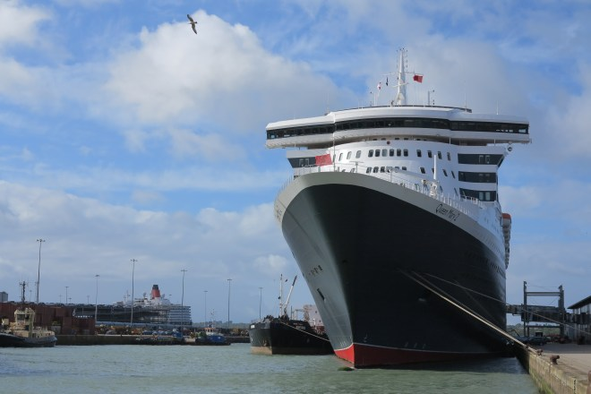 Search: Queen Mary 2, pictured in Southampton (Picture: Dave Monk)