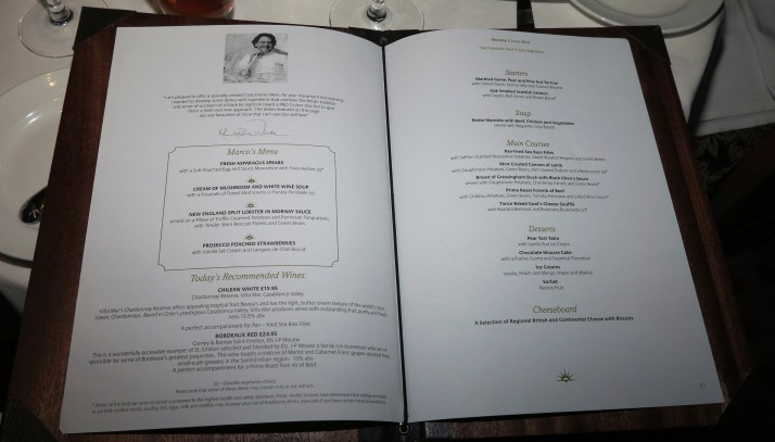 Making his Marco: The menu prepared by Marco Pierre White