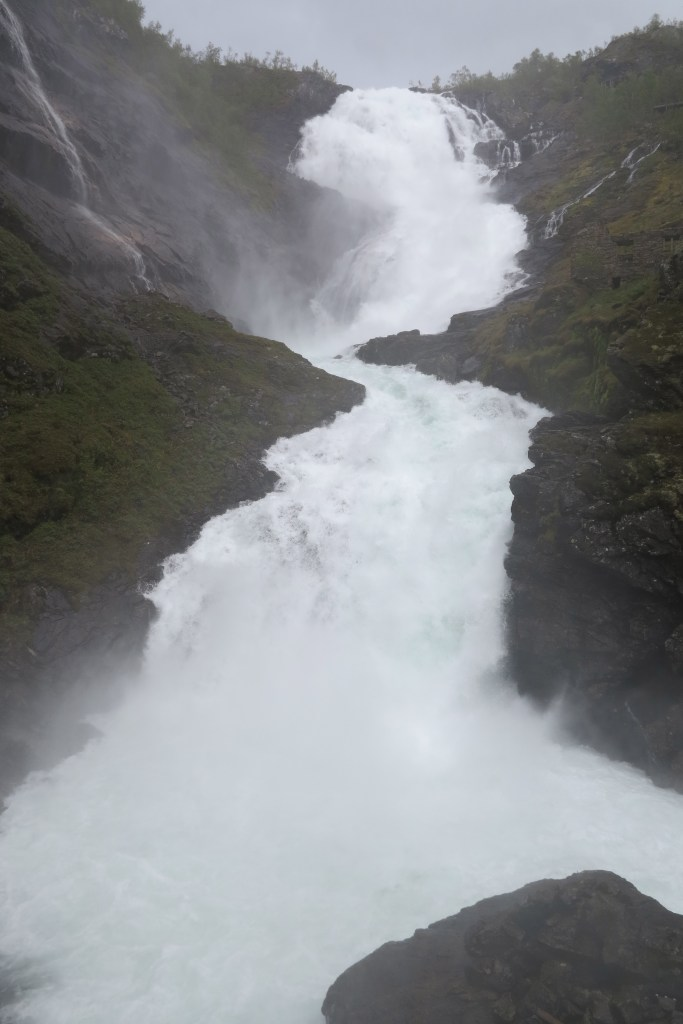 Station blaster: The waterfall at on the Flåm line