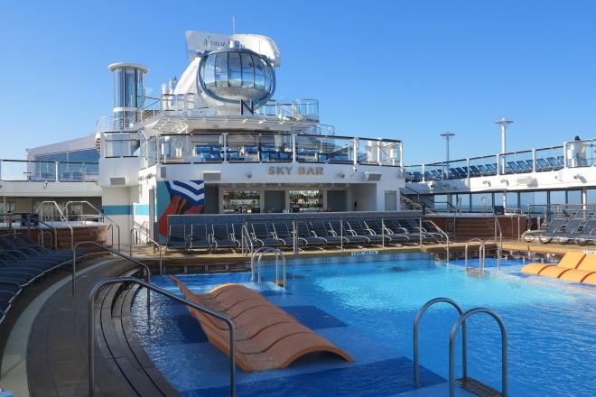 Sunshine on deck: Sky Bar and North Star