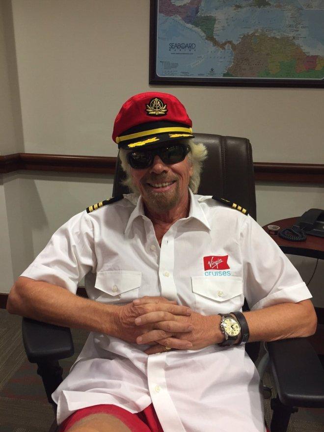 Full steam ahead: Richard Branson yesterday