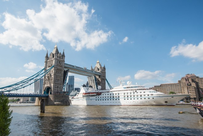 Visit to London: Star Legend passes under Tower Bridge (Picture: Blake Ezra Photography www.blakeezraphotography.com)