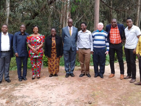 Together photo - Regional Nutrition Contract Implementation Evaluation - chaired by RAS-Njombe