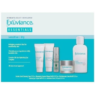 Exuviance Essentials Sensitive Skin Care Travel Collection 5 Count