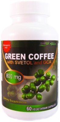 Svetol Green Coffee Bean Extract with GCA Natural Weight Loss Supplement 800mg per serving No Filler or Additives - Veggie Caps