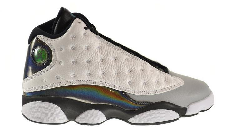"newest 682f0 1c4ab Air Jordan 13 Retro ""Hologram"" Men's Shoes White/Tropical Teal-Black-Wolf  Grey 414571-115 – For Sale"
