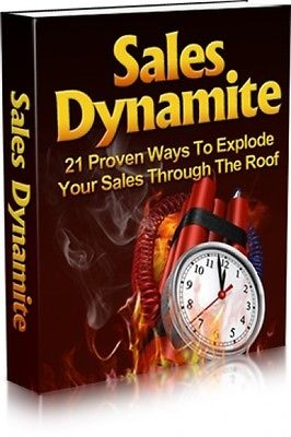 Sales Dynamite Ebook With Master Resell Rights with turn key website htm files