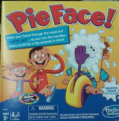 PIE FACE GAME by Hasbro NIB Ready to Ship Hot! UPC 630509406661 SOLDOUT INSTORES