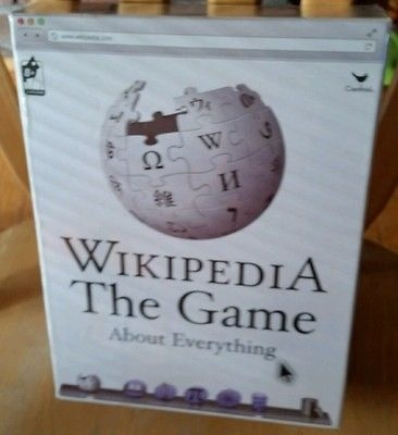 Wikipedia The Board Game educational trivia family fun informational NEW
