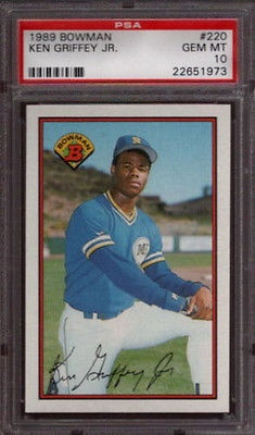 Ken Griffey Jr Mariners 1989 Bowman 220 Rookie Card Rc Psa 10 Gem Mint Qty For Sale