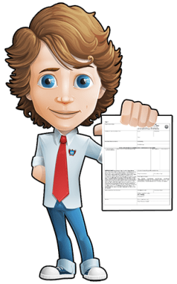 Image of mascot holding bill of lading