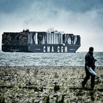CMA-CGM container ship art