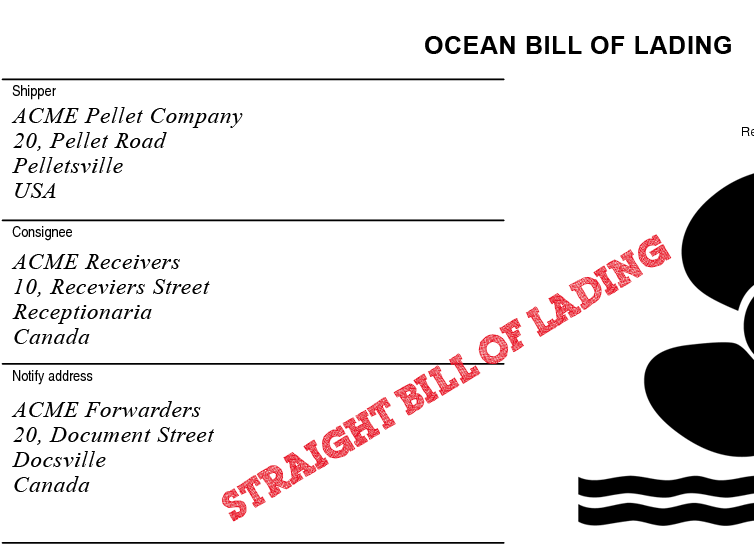 straight bill - Which is the most important function of a bill of lading and why..??