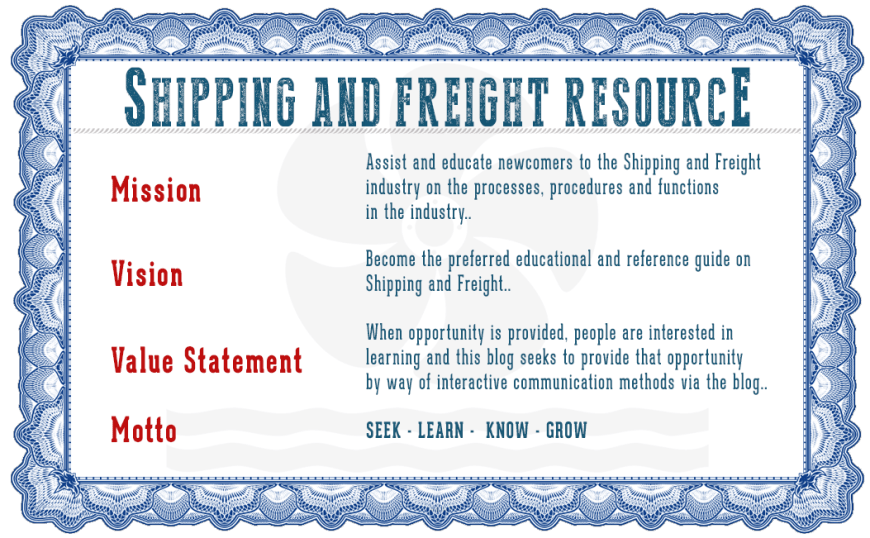 Shipping and Freight Resource - Mission Statement