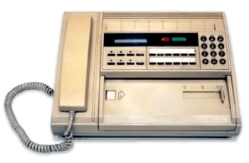 vintage shipping - fax machine