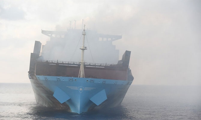 Serious fire on Maersk Line container vessel Maersk Honam - Update